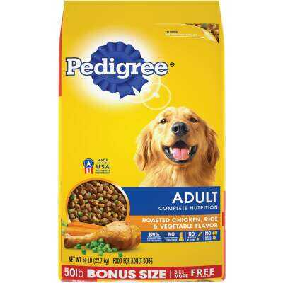 Pedigree Complete Nutrition 50 Lb. Roasted Chicken, Rice, & Vegetable Adult Dry Dog Food