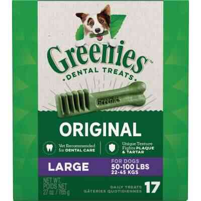 Greenies Large Dog Original Flavor Dental Dog Treat (17-Pack)