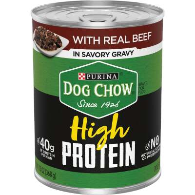 Purina Dog Chow Beef Adult Flavor High Protein Wet Dog Food, 13 Oz.