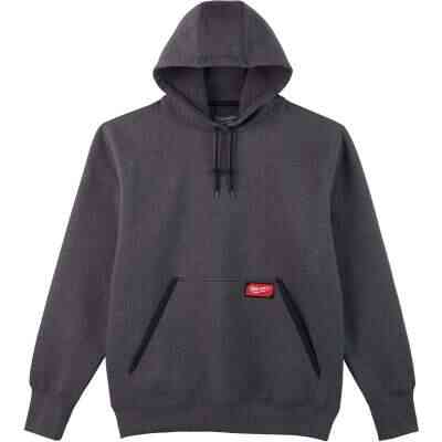 Milwaukee Small Gray Heavy-Duty Pullover Hooded Sweatshirt