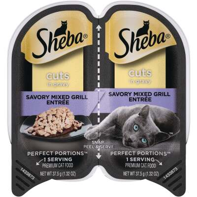 Sheba Perfect Portions Cuts in Gravy 2.6 Oz. Savory Mixed Grill Adult Wet Cat Food