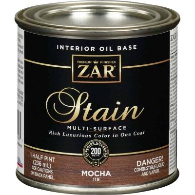 ZAR Oil-Based Wood Stain, Mocha, 1/2 Pt.