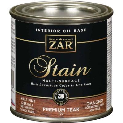 ZAR Oil-Based Wood Stain, Premium Teak, 1/2 Pt.