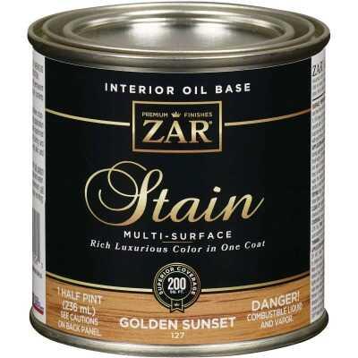 ZAR Oil-Based Wood Stain, Golden Sunset, 1/2 Pt.