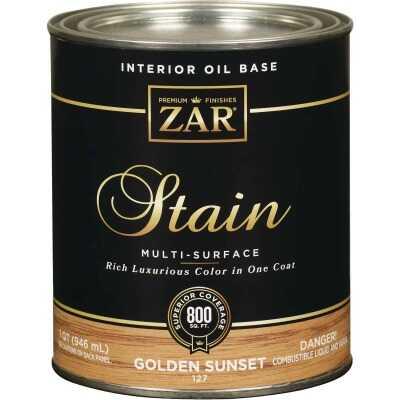 ZAR Oil-Based Wood Stain, Golden Sunset, 1 Qt.