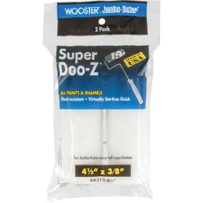 Wooster Jumbo-Koter Super Doo-Z 4-1/2 In. x 3/8 In. Mini Woven Fabric Roller Cover (2-Pack)