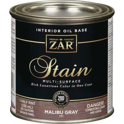 ZAR Oil-Based Wood Stain, Malibu Gray, 1/2 Pt.