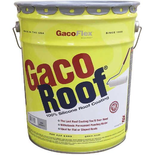 GacoFlex GacoRoof Silicone Roof Coating, Gray, 5 Gal.