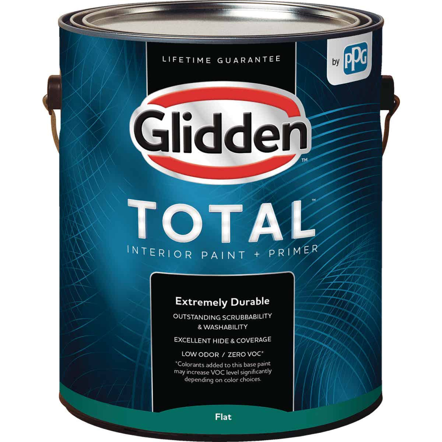 Glidden Total Interior Paint + Primer Flat White & Pastel Base 1 Gallon Image 1