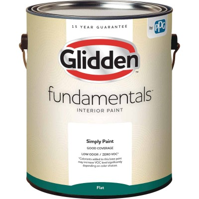Glidden Fundamentals Interior Paint Flat White Pastel Base 1 Gallon