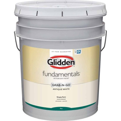 Glidden Fundamentals Grab-N-Go Antique White Flat 5 Gallon