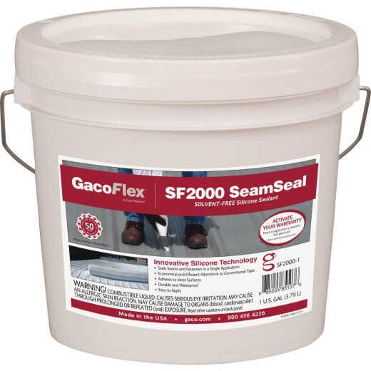 GacoFlex SeamSeal 1 Gal. White Solvent-Free Silicone Sealant, 193-971