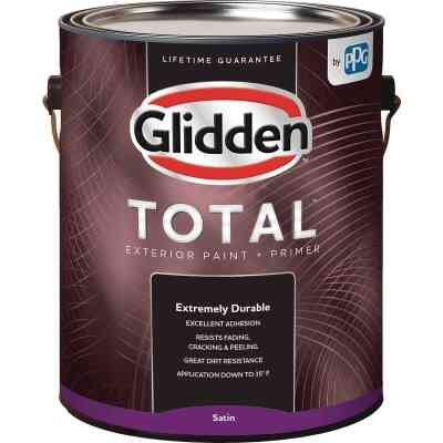 Glidden Total Exterior Paint + Primer Satin Midtone Base 1 Gallon