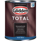 Glidden Total Exterior Paint + Primer Semi-Gloss Ultra Deep Base Quart Image 1