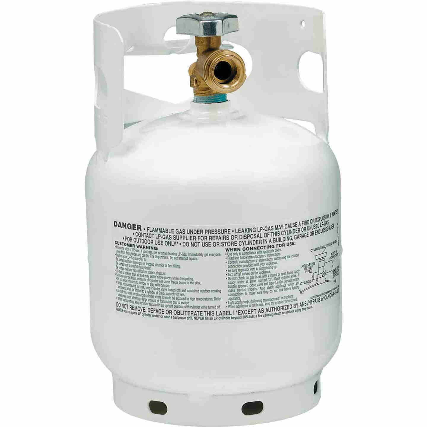 Manchester Tank and Equipment 5 Lb. Capacity Steel TC/DOT Vertical LP Propane Tank Image 1