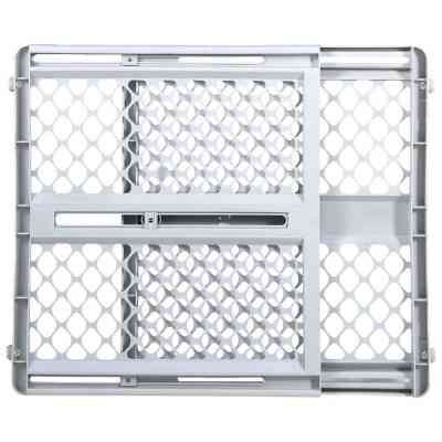 North States 26 In. to 42 In. W. White Plastic Universal Pet Gate