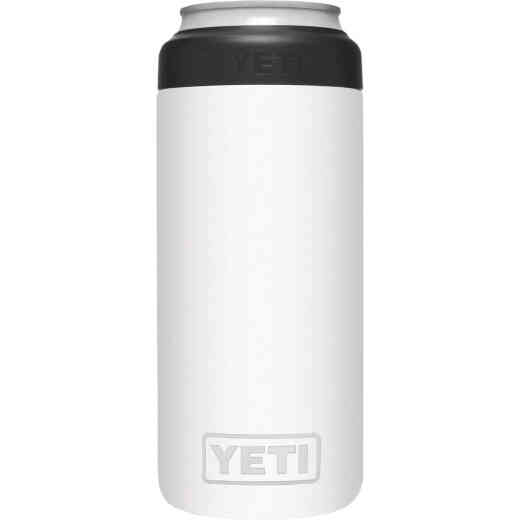 Yeti Rambler Colster Slim 12 Oz. White Stainless Steel Insulated Drink Holder with Load-And-Lock Gasket