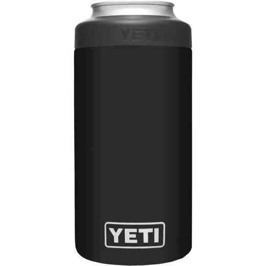 Yeti Rambler Colster Tall 16 Oz. Black Stainless Steel Insulated Drink Holder with Load-And-Lock Gasket